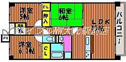 アルファステイツ東古松[4階]の間取り