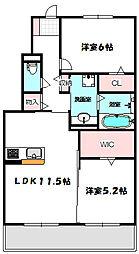 Osaka Metro谷町線 大日駅 徒歩13分の賃貸アパート 1階2LDKの間取り