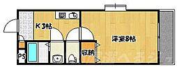 福岡県北九州市小倉北区中津口1の賃貸マンションの間取り