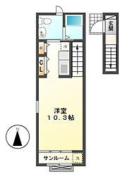 メゾン デュ コワン[2階]の間取り
