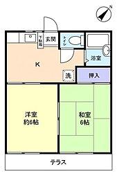 パビリオン三松1番館[1階]の間取り