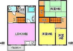 松が丘住宅19A号棟[2階]の間取り