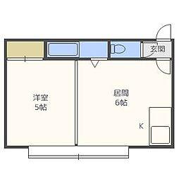 メゾンジカータ[2階]の間取り