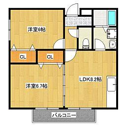 シェモアYUI[1階]の間取り
