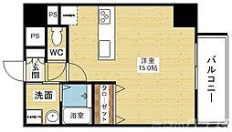 阪急京都本線 上新庄駅 徒歩13分の賃貸マンション 7階ワンルームの間取り