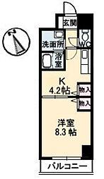 広島県広島市中区大手町4丁目の賃貸マンションの間取り