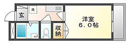 岡山県倉敷市連島町西之浦の賃貸マンションの間取り