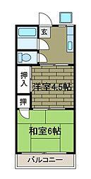晴美荘[2階]の間取り
