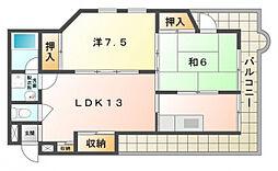 栄良ビル[4階]の間取り