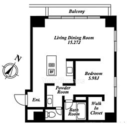 東麻布アパートメント[9階]の間取り