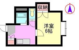 福岡県北九州市八幡西区相生町の賃貸アパートの間取り