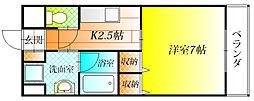 大阪府羽曳野市白鳥2丁目の賃貸マンションの間取り