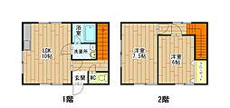 [テラスハウス] 福岡県北九州市小倉南区上石田1丁目 の賃貸【/】の間取り