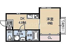 第5テラダハイツ[1階]の間取り