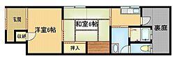 [テラスハウス] 大阪府大阪市旭区赤川4丁目 の賃貸【/】の間取り