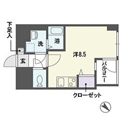 ステージア平尾[3階]の間取り