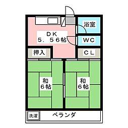 レジデンス大野木[2階]の間取り