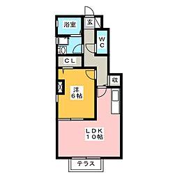 ピナスガーデンA・B[1階]の間取り