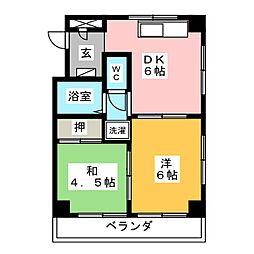 関原ビル[3階]の間取り