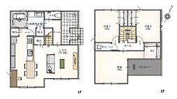 約19.9帖のLDKと開放的な玄関スペース、広々とした居室が魅力の建物プランです。