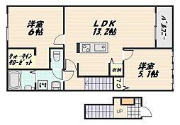 響[2階]の間取り