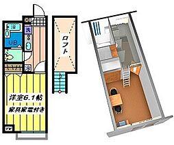 埼玉県戸田市美女木7丁目の賃貸アパートの間取り
