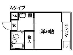 聚楽PATIO[3階]の間取り