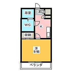 No.8 Asahino 上社[2階]の間取り