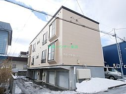 北海道札幌市東区伏古一条3丁目の賃貸アパートの外観