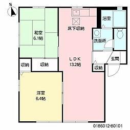 ペニーレイン11[1階]の間取り