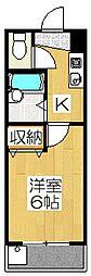 パルコーポ大宮[106号室]の間取り