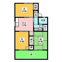 ハウスオブイマイセC[1階]の間取り