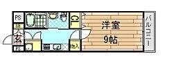 インパレス小阪[605号室]の間取り