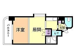 メープル円山 10階1LDKの間取り