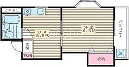 732−ル・ボレーブ[205号室]の間取り