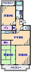 ガーデンタウン田中[2階]の間取り