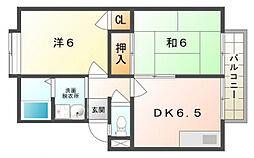 ガーデンハイツ小林1号・2号[1階]の間取り