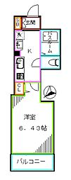 JR総武線 大久保駅 徒歩7分の賃貸アパート 1階1Kの間取り
