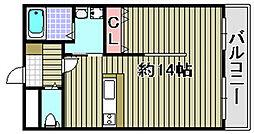サーク羽倉崎[2階]の間取り