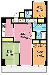 埼玉県北本市北本3丁目の賃貸マンションの間取り