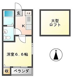 エバンフォート[2階]の間取り