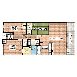 クレヴィア茨木[6階]の間取り