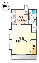 コーポ川井[1階]の間取り