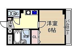 末広13番館[3階]の間取り