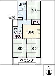 サンシャイン二村[3階]の間取り