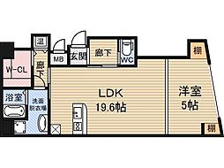 MAXIM東三国[3階]の間取り