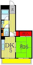 コーシン松戸マンション[4階]の間取り