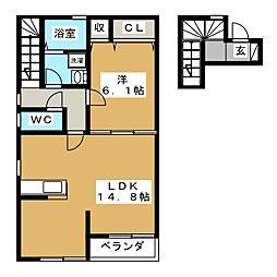 仮)高砂2丁目新築アパート[2階]の間取り