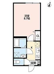 埼玉新都市交通 鉄道博物館(大成)駅 徒歩4分の賃貸アパート 2階1Kの間取り