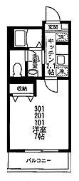 クレッセント山王[101号室号室]の間取り